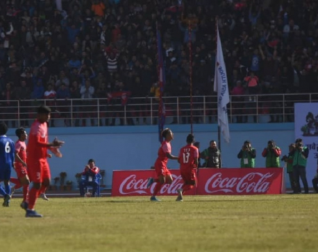 First half ends 1-1 after Rijal's equalizer against Maldives