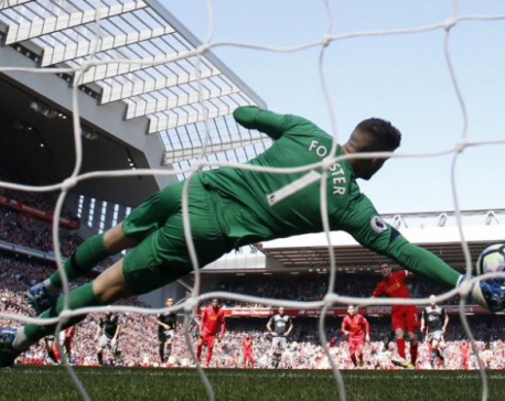 Liverpool miss penalty in scoreless draw with Southampton
