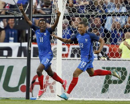 Dembele scores winner as 10-man France beats England 3-2