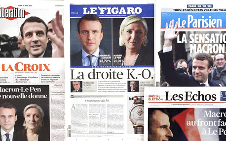 French vote for Macron, Le Pen shuts out mainstream politics