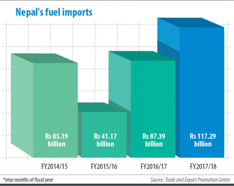 Fuel import bill climbs 34%