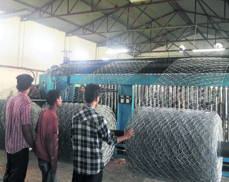 GI wire factory starts operation in Lekhnath