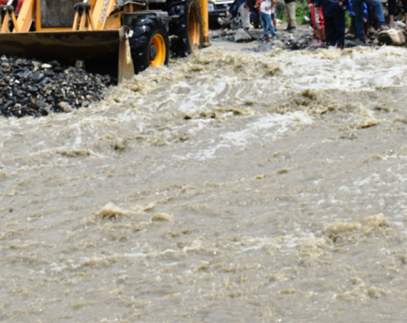 Three persons go missing as a swollen rivulet sweeps away a vehicle