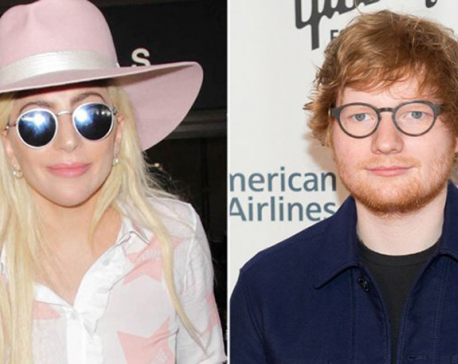 Lady Gaga embraces Ed Sheeran after Twitter abuse