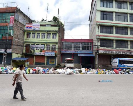 PHOTOS: Garbage piled up on Kathmandu's streets
