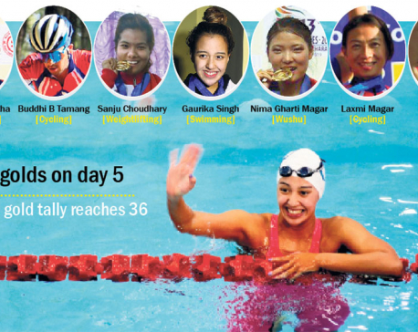 Gaurika wins Nepal's 1st individual SAG gold