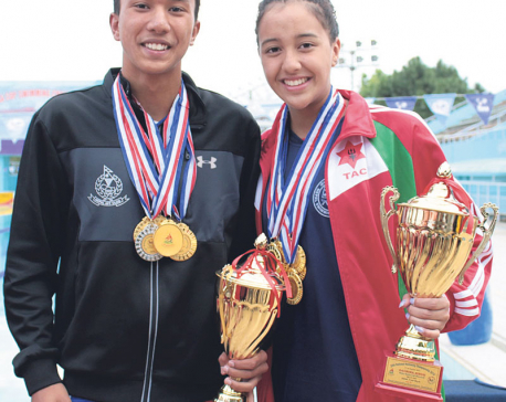 Singh, Shrestha set new nat'l records