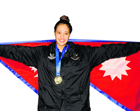 Nepal's Gaurika Singh becomes first Nepali swimmer to win four golds in 13th South Asian Games