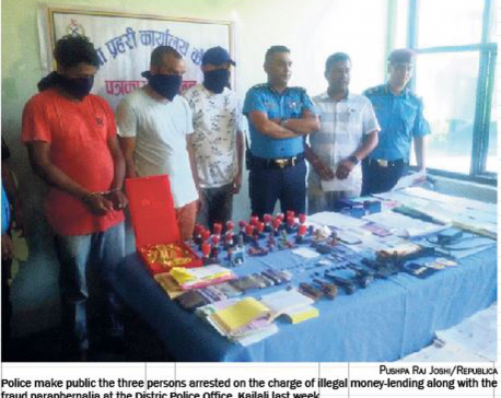 Kailali arrests indicate illegal money-lending widespread