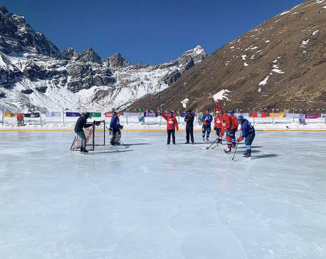 Nepal hosts figure skating, ice hockey in Gokyo