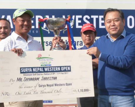 Shrestha wins Western Open Golf