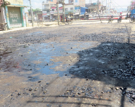 Proper blacktopping after Golbazar locals protest