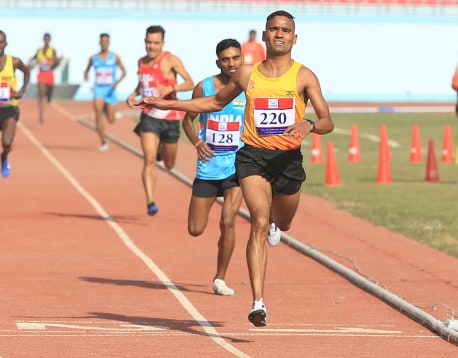 Parki wins first SAG gold for Nepal in men's athletics(with photos)
