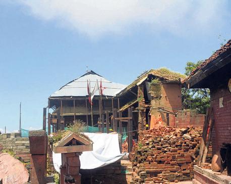Gorkha Durbar reconstruction slow