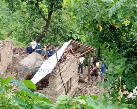 Four of a family die in Gulmi landslide (with photos)