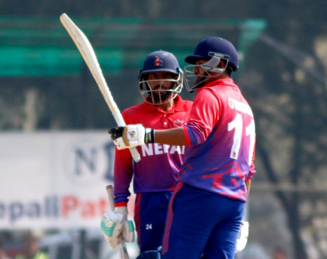 Oman thrashes Nepal by 8 wicketswith 16 balls remaining