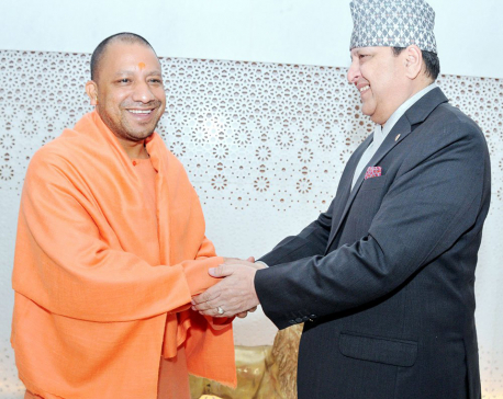 Ex-King in Lucknow, meets UP CM Adityanath