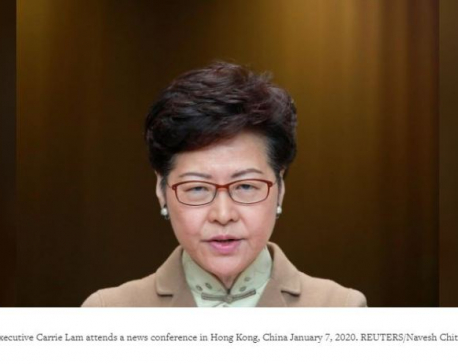 Hong Kong leader says financial hub's strengths intact despite protests