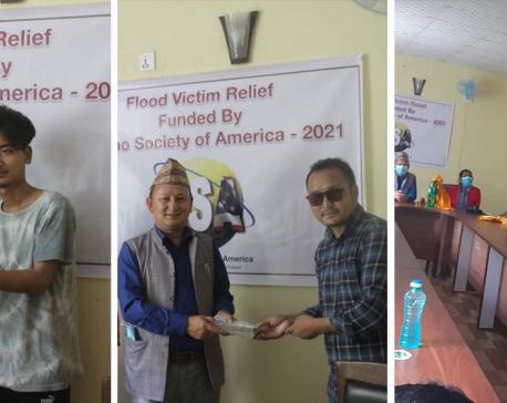 HSA extends financial aid to Yangri-Larke flood victims