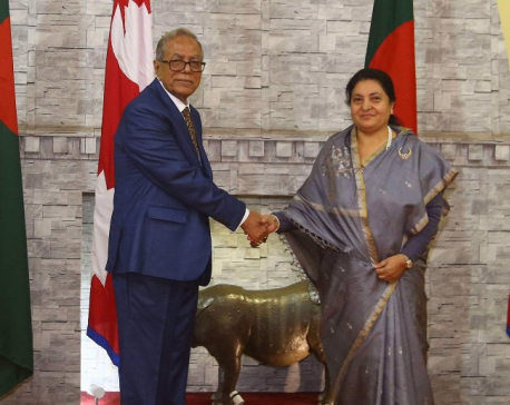 Bangladesh President holds meeting with counterpart Bhandari