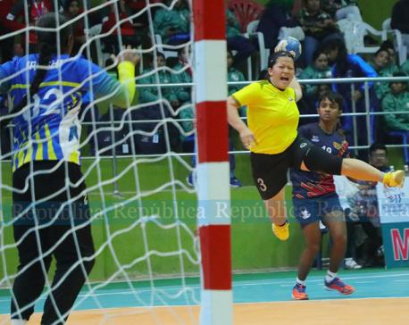 Nepal women make winning start in handball