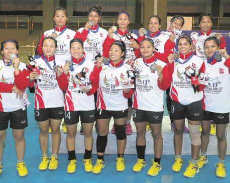 Nepal women's handball team secures silver
