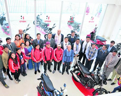 New Hero Motorcycles showroom in Mitra Park