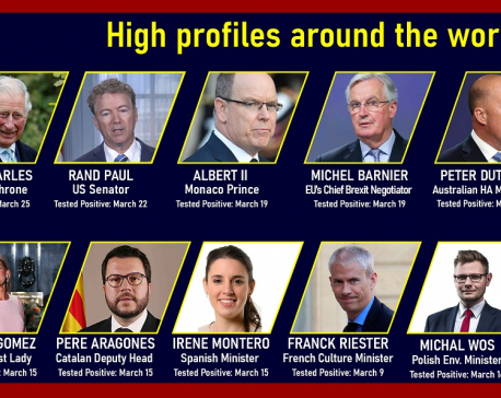 INFOGRAPHICS: High-profile officials affected by COVID-19 globally