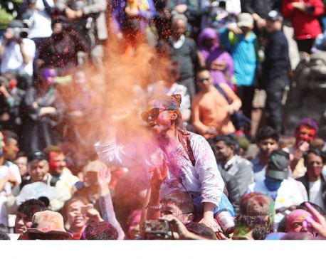 Holi, festival of colors being observed today