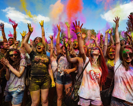 Holi celebrated across hilly districts