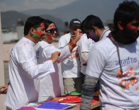 Nepal Republic Media marks Holi festival (photo feature)