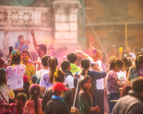 Holi observed at Basantapur (photo feature)