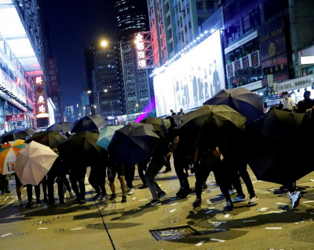 Downtown Hong Kong becomes battleground as night falls