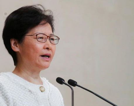 Hong Kong leader warns against interference, escalation of violence