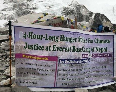 Youths stage '4-hr hunger strike' at Everest base camp demanding climate action (with photos)