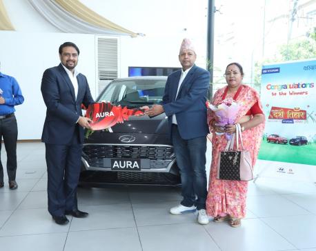 Hyundai gives away keys to Festive Scheme 2077 winners