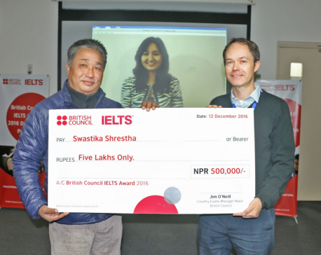 Nepali student receives British Council IELTS Award