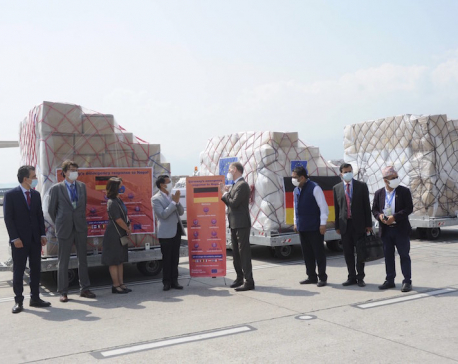 Germany provides medical equipment, other health essentials to Nepal to combat COVID-19