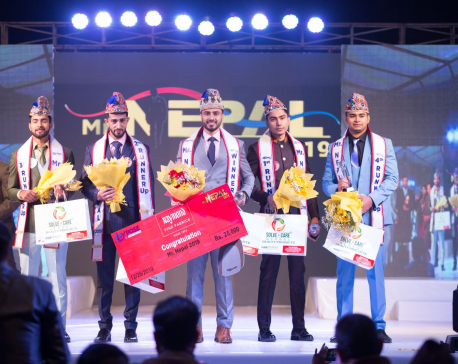 Santosh Upadhyaya, winner of Mr Nepal 2019
