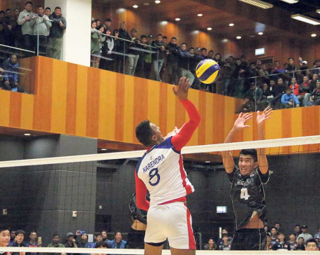 Nepal beats Hong Kong in volleyball friendly