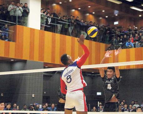 Nepal beats Hong Kong in volleyball friendly