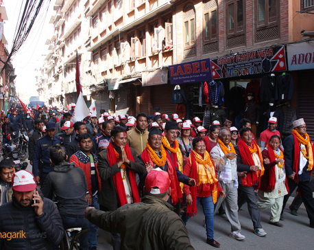 Victory rally of left alliance in Lalitpur (photos/video)