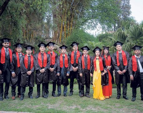 Celebrating graduation day