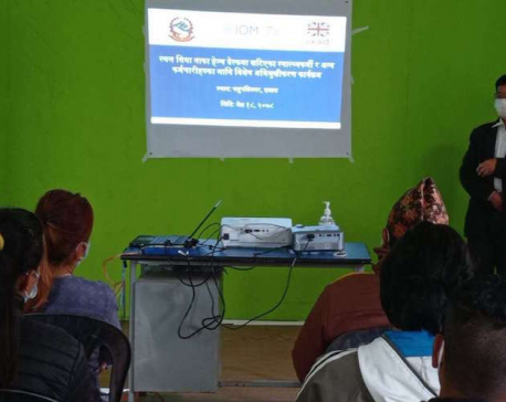 Training for the officials at border points organized to help contain spread of corona virus