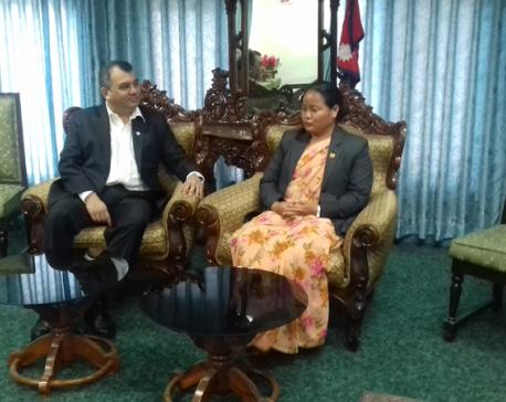 Speaker Gharti, IPU President Chowdhury meet