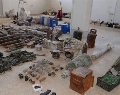 Syrian government forces uncover Israeli-made bombs, grenades near Damascus