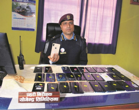 Police confiscate illegally-imported smartphones