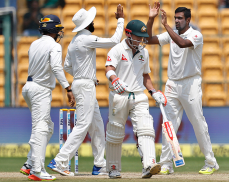 India wins 2nd test by 75 runs, levels series vs Australia