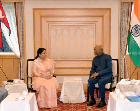 President Bhandari invites Indian counterpart to visit Nepal