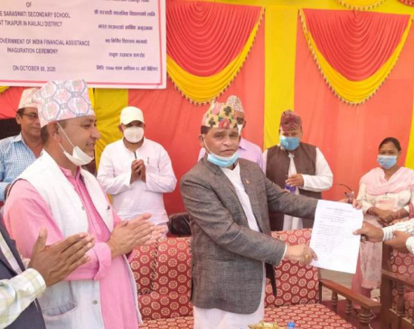 India-supported school building inaugurated in Kailali